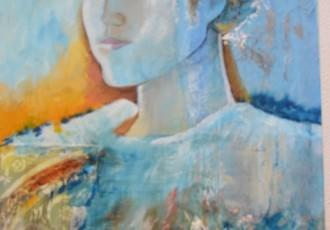 huile et collage sur toile 70x90