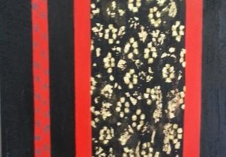 acrylique et feuille d'or sur toile ,70x701
